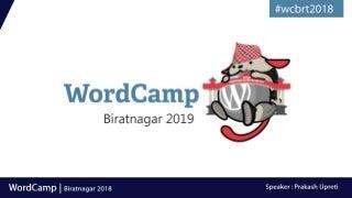 WordCamp : WordPress Journey Since 2005