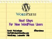 Next Steps for New WordPress Users