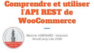 WordCamp Lille 2018 : Comprendre et utiliser l'API REST de WooCommerce