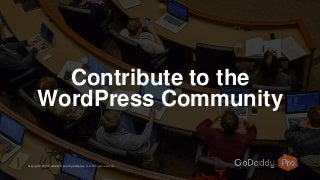 Contribute to the WordPress Community