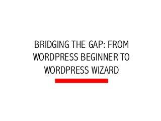 Bridging the Gap: From WordPress beginner to WordPress Wizard