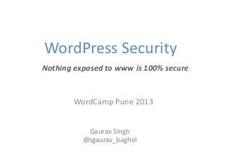 Word camp pune 2013 security