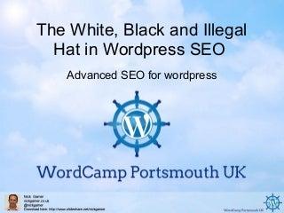 Wordcamp UK Porstmouth Advanced SEO for wordpress