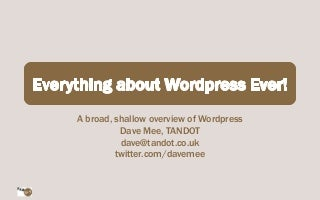 Everything about WordPress Ever!