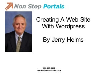 Creating A Web Site With WordPress - By Jerry Helms