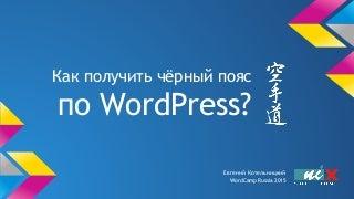 Как получить чёрный пояс по WordPress?