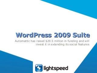 Wordpress 2009 Suite