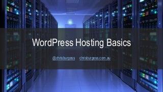 WordPress Hosting Basics