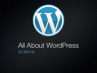 All About WordPress