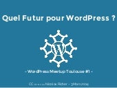 Wordpress Meetup Toulouse 1 - Quel Futur pour WordPress ?