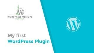 My first WordPress Plugin
