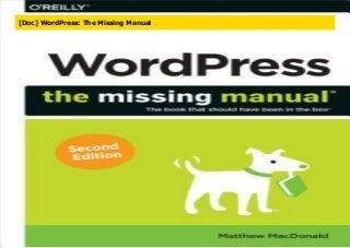 [Doc] WordPress: The Missing Manual