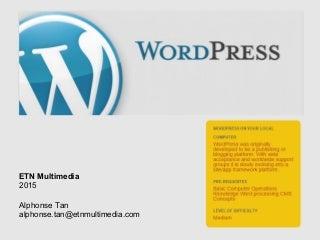 Wordpress Tutorial Part 1