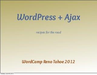 WordPress Ajax Recipes