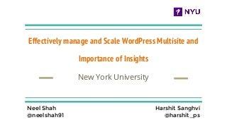 Wordpress at New York University