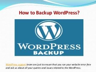 Word press backup