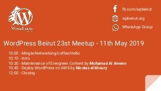 Word press beirut 23st meetup may