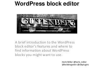 WordPress block editor v0.0.0