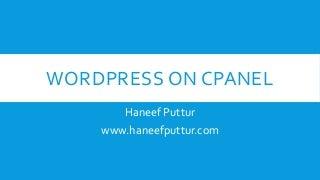 Wordpress Installation in CPANEL for Dummies