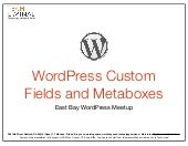 WordPress Custom Fields and Metaboxes