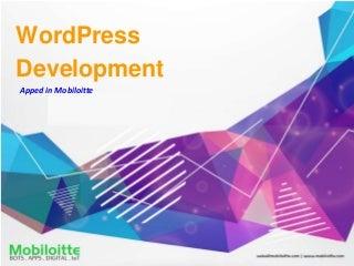 WordPress Development - Mobiloitte
