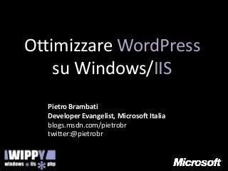 Word press e iis