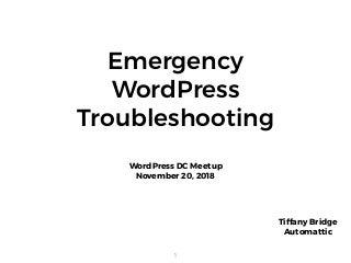 Emergency WordPress Troubleshooting