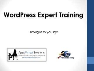WordPress Expert Course Introduction