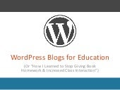 WordPress for Education PPT