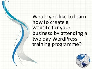 WordPress 2016 - Two Day Training Galway