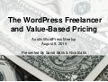 The WordPress Freelancer and Value-Based Pricing