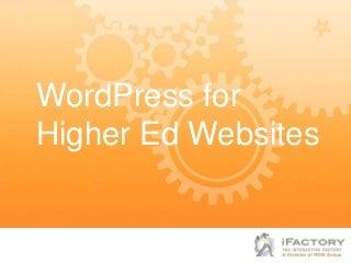 WordPress for Higher Ed Websites