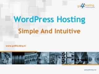 Word press hosting simple and intuitive