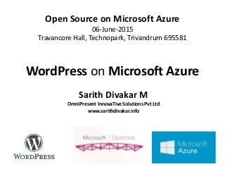 Wordpress on Microsoft Azure