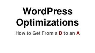 Word press optimizations