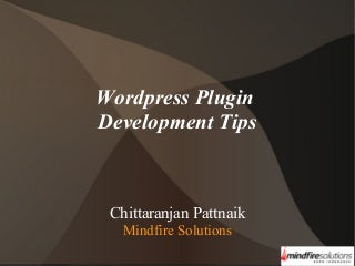 Wordpress plugin development tips