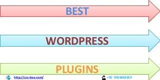 The Best WordPress Plugins for a small or medium size WordPress Website