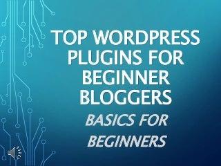 Top WordPress Plugins for Beginner Bloggers