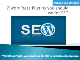 Best WordPress SEO Plugins You Should be Using for Your WordPress Website SEO