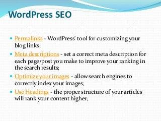 Wordpress seo and digital marketing