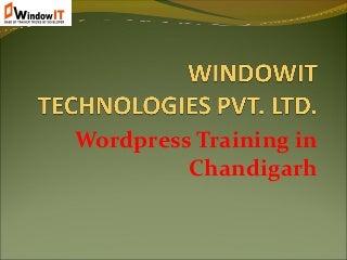 6 Months Industrial Training in WordPress at Windowit Chandigarh