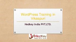 WordPress Training in Vikaspuri