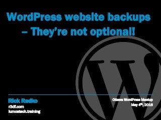 WordPress website backups - they're not optional