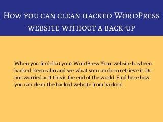 Wordpress Site Hacked? How to fix!