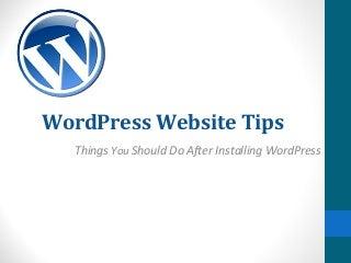 Word Press Website Tips