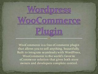 Wordpress woo commerce plugin