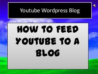 Promote your Youtube Channel in a blog VSEO tutorial