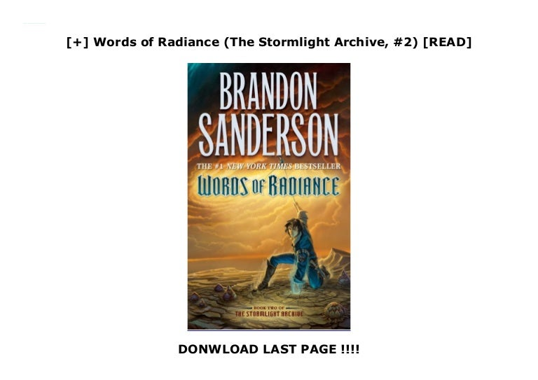 Download Words Of Radiance The Stormlight Archive 2 By Brandon Sanderson