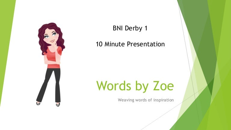 10 minute presentation how many words