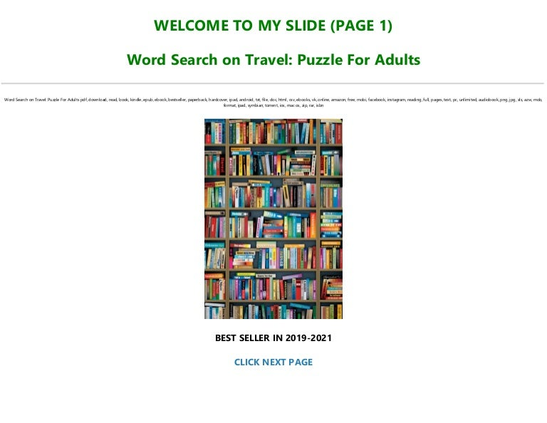 Free (BOOK$) Word Search on Travel: Puzzle For Adults [Full]